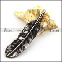 Vintage Chicken Feather Pendant p003647