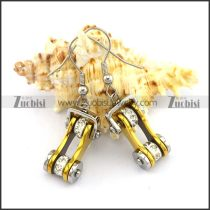 Bling Gold Plated Biker Earrings e001161