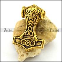 Vintage Gold Hammer Pendant p003067