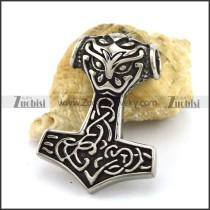 Stainless Steel Thor Hammer Pendant p002961