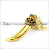 Big Golden Stainless Steel Horn p005518