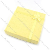 yellow square paper jewelry box for bracelet pa0003