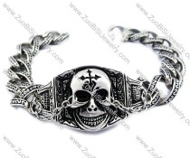 Stainless Steel Nose Chain Skull Bracelet - JB200085