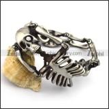 Matte Human Skeleton Bracelets for Strong Mens b003782