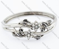 Flower Stainless Steel Bangle - JB200087