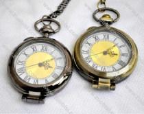 Brass Clock Pocket Watch -PW000185