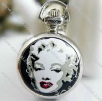 Fashion Silver Marilyn Monroe Pocket Watch Chain - PW000017