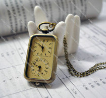 Fashion Double Movements Square Pocket Watch for Uniset -PW000109