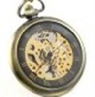 Antique Mechanical Pocket Watch with chain -pw000401