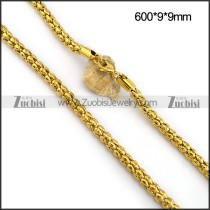 9MM Gold Tone Steel Popcorn Chain n001094