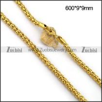 9MM Gold Tone Steel Popcorn Chain n001094