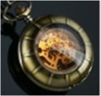 Antique Mechanical Pocket Watch with chain -pw000388
