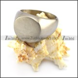 round shape stainless steel blank signet ring r004701