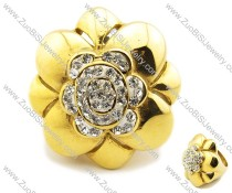 Stainless Steel  flower Ring -JR080007