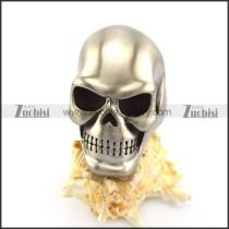 Matte Solid Stainless Steel Skull Ring r004915