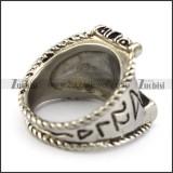 Vintage Hammer Stainless Steel Viking Ring r004961