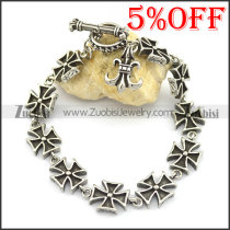 10 iron cross charms bracelets for women b002769