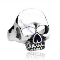 No Eye Skull Ring in Stainless Steel -JR350219