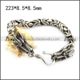 Stainless Steel Casting Chain Bracelet with Two Drogon Head Ends b006347