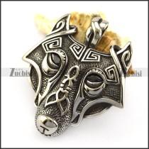 Stainless Steel Viking Wolf Pendant p005877