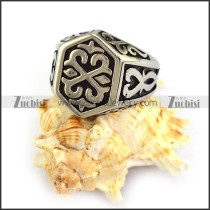 Hammer Ring in Silver Stainless Steel r003870