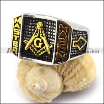 Gold Finished Masonic Ring r003610