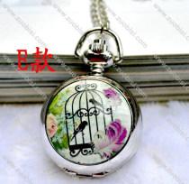Fashion Rhidoum Bird Cage Pocket Watch Chain - PW000049-5