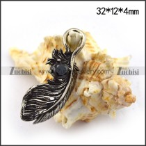 32MM Big Steel Feather Charm for Bracelet p003660