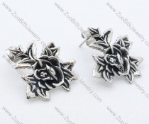 Beautiful Flower Stainless Steel earring - JE050032