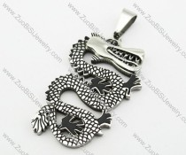Stainless Steel Dragon Pendant -JP140104