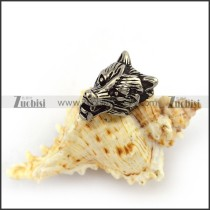 Retro Stainless Steel Casting Wolf Charm a000053