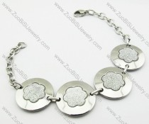 Stainless Steel Flower Bracelet -JB140042