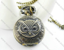 Large Owl Pocket Watch Necklace -PW000306