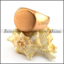 rose gold blank signet ring with round ring face r004703