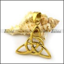Shiny Gold Celtic Knot Pendant p004656