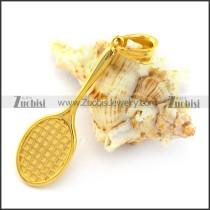 Gold Plating Battledore Pendant p003391