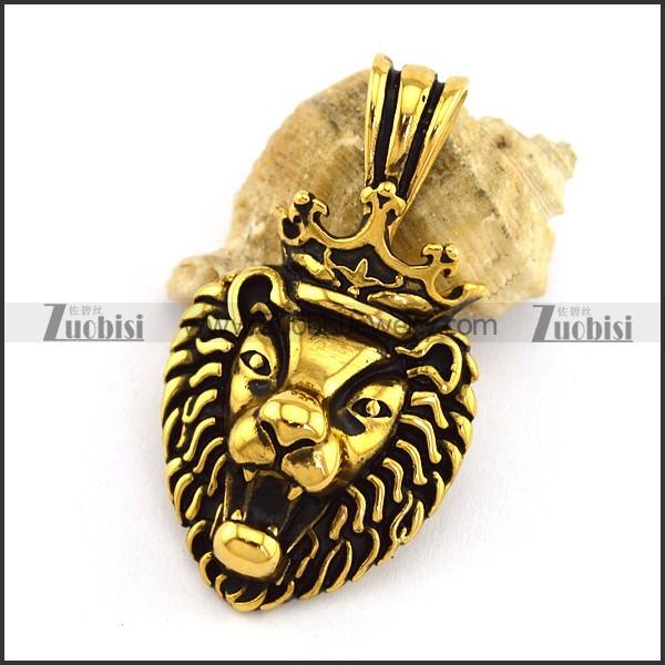 Vintage Gold Lion Pendant p002994