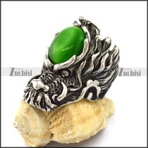 Green Cat Eys Stone Casting Dragon Rings r003086