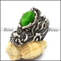Green Cat Eys Stone Casting Dragon Rings r003086