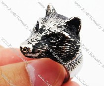Vintage Stainless Steel Wolf Ring - JR420002