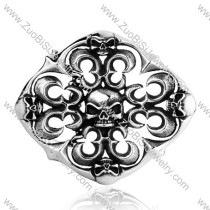 Punk Style Titanium Skull Buckle for Heavy Rock Mens -JZ350006
