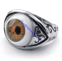 unique jewelry with evil eye meaning for mens ring -JR350273