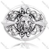 Oval Shaped Titanium Cross Lion Head Buckle For Men's Belt -JZ350008