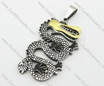 Stainless Steel Dragon Pendant -JP140105