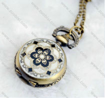 Antique Bronze Plum Blossom Pocket Watch -PW000311