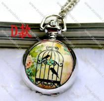 Fashion Rhidoum Bird Pocket Watch Chain - PW000049-4