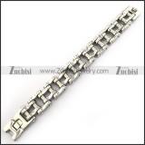 high polishing motorcycle bike chain bracelet with dull polish column in middle b002790