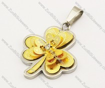 Stainless Steel Flower Pendant -JP140042