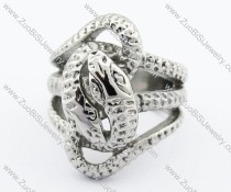 Silver Stainless Steel snake Ring -JR330072