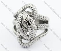 Silver Stainless Steel snake Ring -JR330072